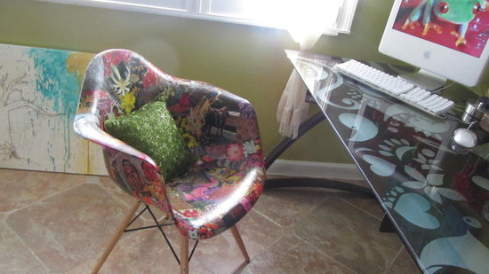 Decoupaged Retro Chair