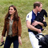 Kate Middleton With Prince William and Lupo at Polo Fields