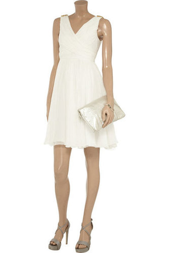 Notte by Marchesa Ruched silk-chiffon dress - 60% Off Now at THE OUTNET