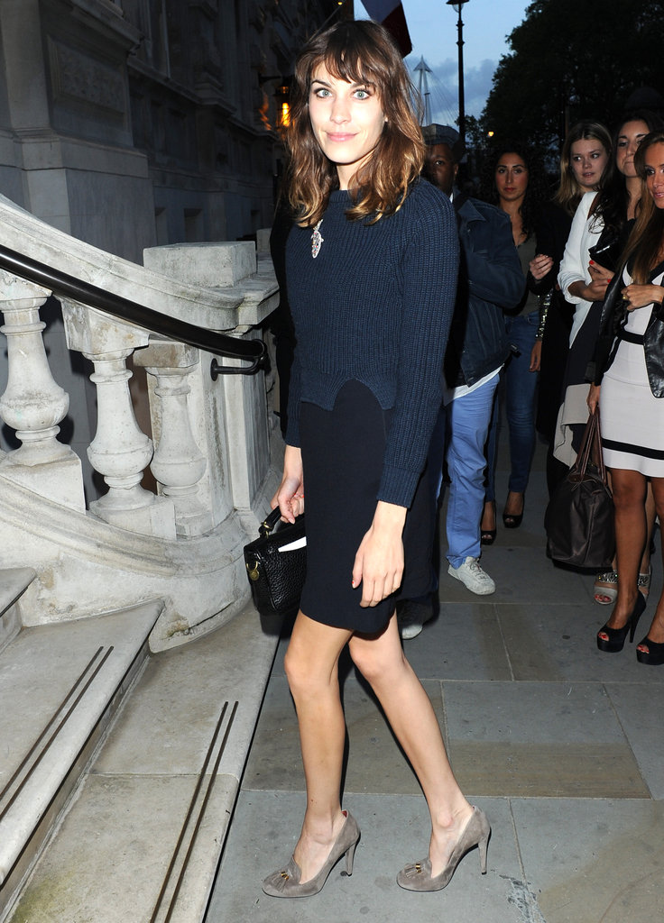 Alexa Chung joined London's most fashionable at the London Collections: Men: Esquire, Mr Porter and Jimmy Choo event.