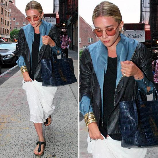 Ashley Olsen White Maxi Skirt