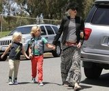 Gwen Stefani and her boys spent the day together in Long Beach.