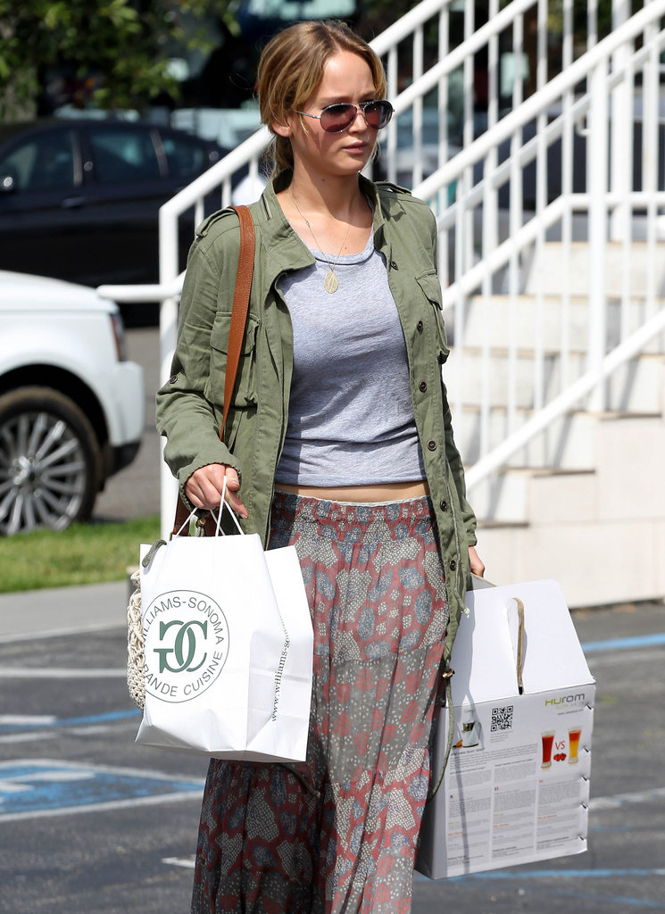 Jennifer Lawrence looked cute and casual as she made a few stops in LA.