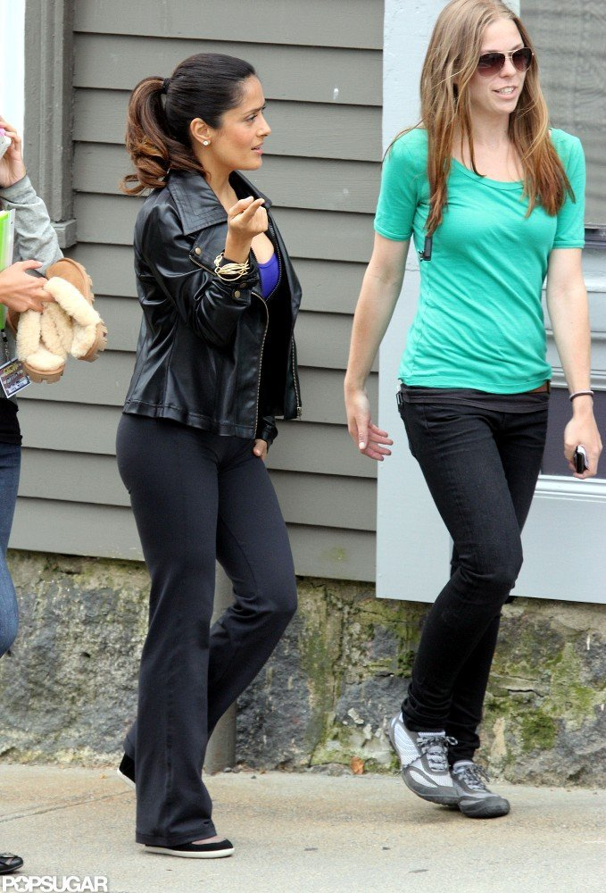Salma Hayek Dresses to Impress on the Grown Ups 2 Set