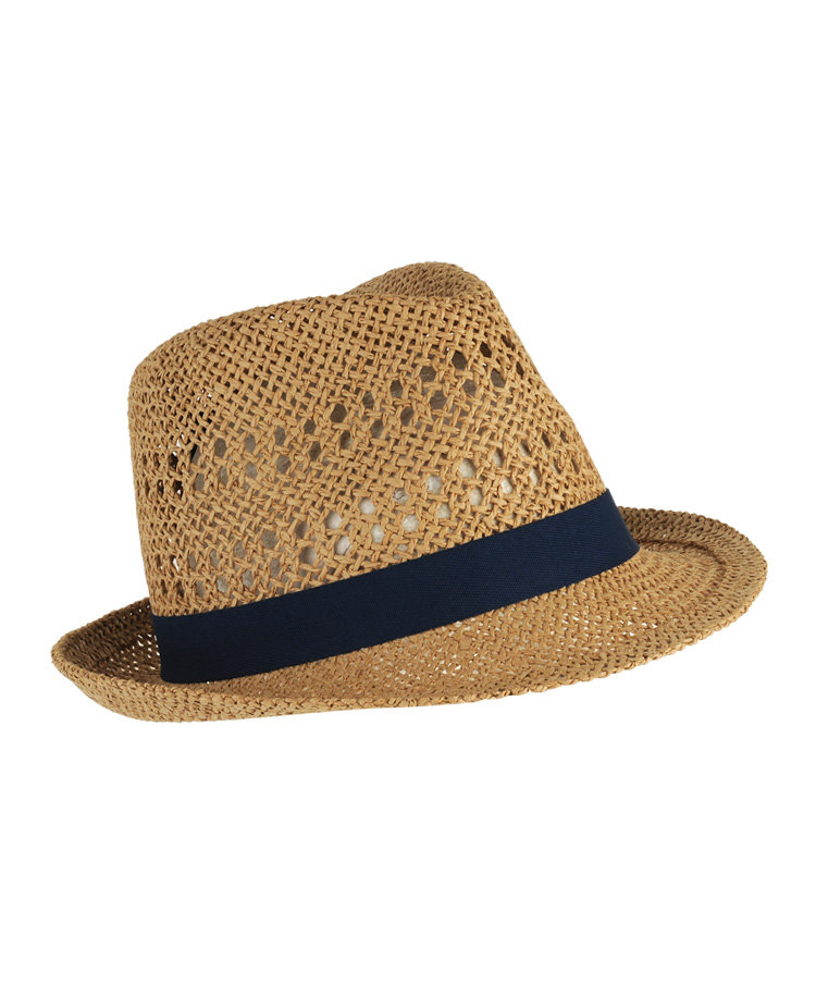 A classic navy-trimmed straw fedora to keep the sun out of your eyes. Forever 21 Classic Straw Fedora ($13)
