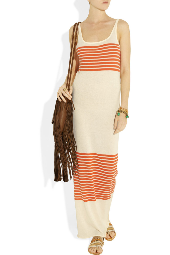 This maxi dress shows off cool orange stripes without going overboard on pattern or too bold a color. Haute Hippie Striped Fine-Kint Cotton Maxi Dress ($265)