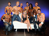 Bachelor winner and Bachelor Pad contestant Vienna Girardi posed with the men of Chippendales in 2010.