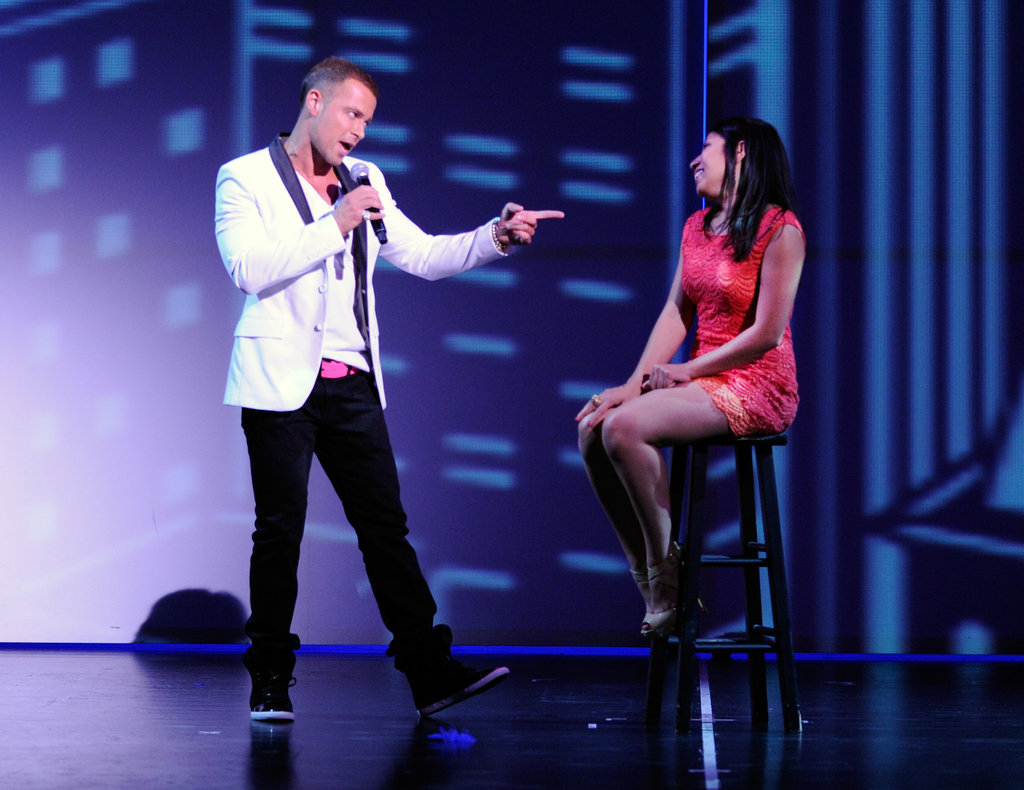 Joey chatted with a woman from the audience during his Chippendales performance last weekend.