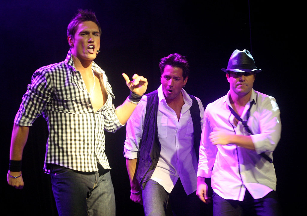 UK boy band Here Come the Boys!, which includes former Chippendales members, performed in 2009.