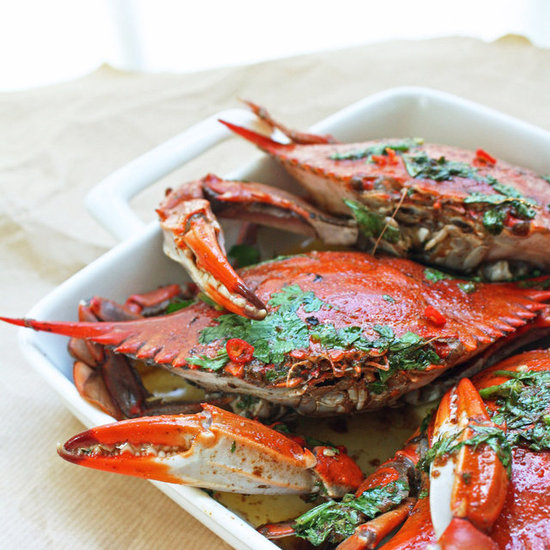 Blue Crabs w/ Chipotle &amp; Lime Brown Butter Sauce
