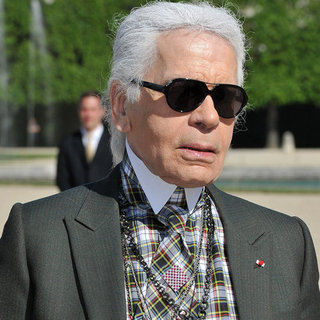 Karl Lagerfeld Wax Sculpture Pictures