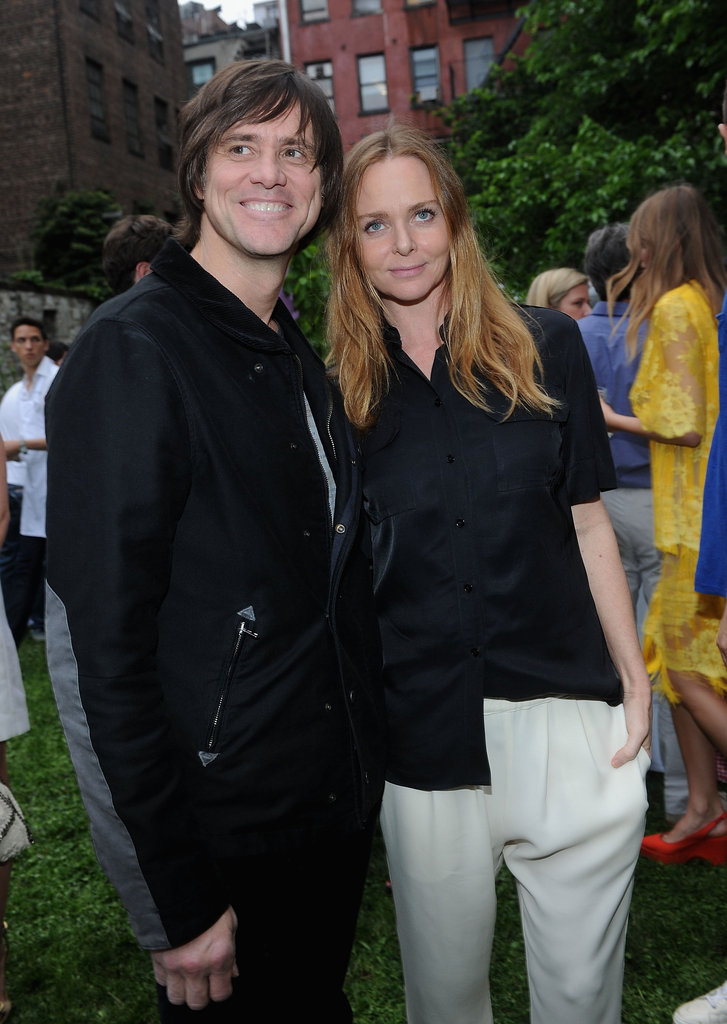 Jim Carrey supported designer Stella McCartney at her Spring presentation in NYC.