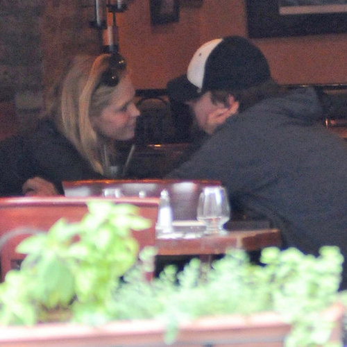 Leonardo DiCaprio and Erin Heatherton Pictures at Lunch