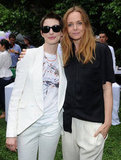Anne Hathaway posed with Stella McCartney at the designer's presentation in NYC.
