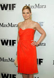 Jennifer Morrison had her hair pulled back in a bun for the event.
