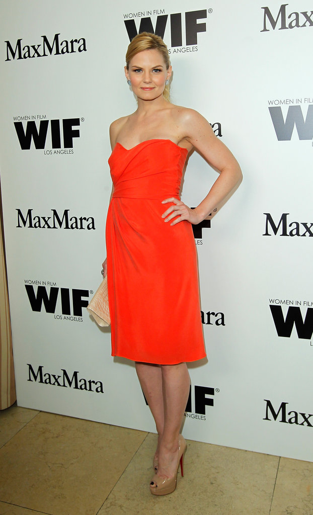 Jennifer Morrison walked the carpet at the Max Mara party in West Hollywood.