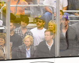 Zac Efron attended the LA Kings Stanley Cup final game with friends Rob McElhenney and Kaitlin Olson in LA.