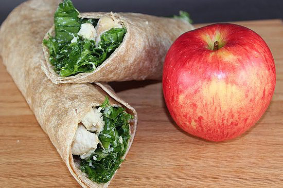 Kale Chicken Caesar Wrap