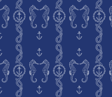 Whip up some great beach house pillows with this Rope and Anchor Fabric ($5 and up).