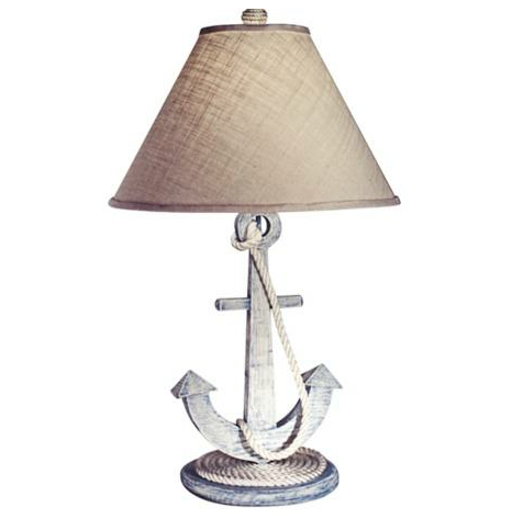The Weathered Anchor Table Lamp ($158) would be so sweet on a little boy's bedside table.