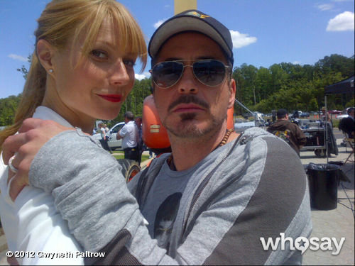 Gwyneth Paltrow reunited with Robert Downey Jr. on the set of Iron Man 3. Source: WhoSay user Gwyneth Paltrow