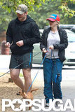 Anna Faris and Chris Pratt took their three dogs for an early morning walk in LA.