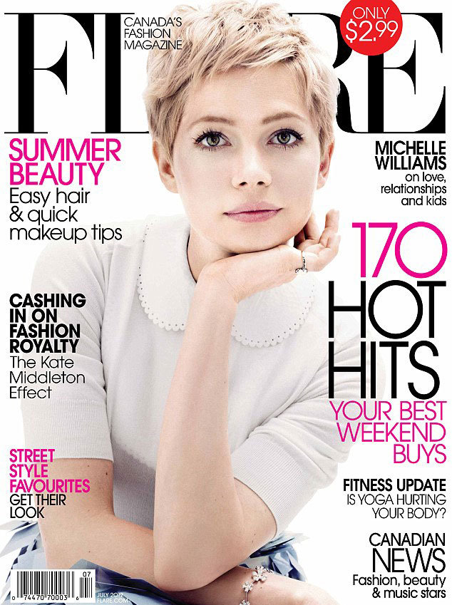 Michelle Williams posed for Flare magazine's July 2012 cover.