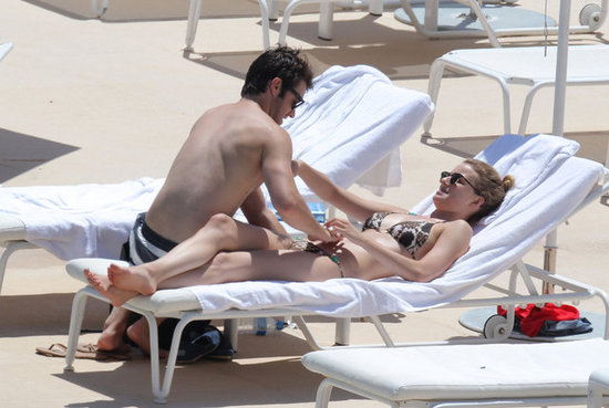 Emily VanCamp and Joshua Bowman got playful in Monaco.