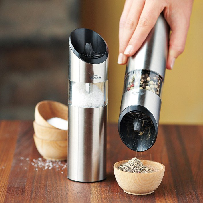 Trudeau Graviti Electric Salt and Pepper Mills ($40)