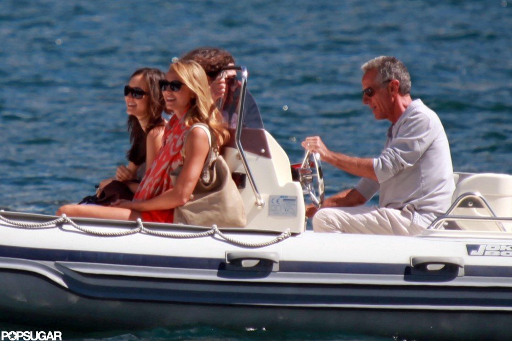 Stacy Keibler enjoyed a boat ride in Lake Como.