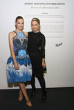 Jaime King and Dianna Agron were arm in arm at the Persol Magnificent Obsessions event in NYC.