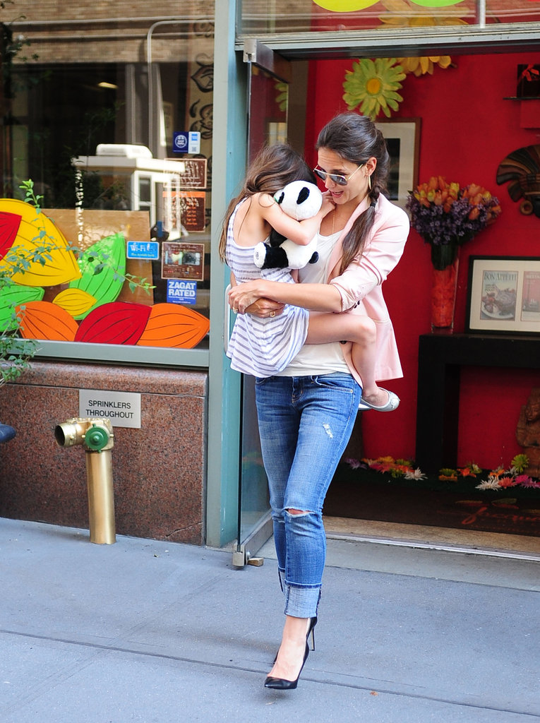 Katie Holmes and Suri Cruise were out in NYC.