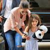 Suri Cruise and Katie Holmes at Jacques Torres Pictures