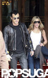 Jennifer Aniston and Justin Theroux start their day in Paris at the Ritz.