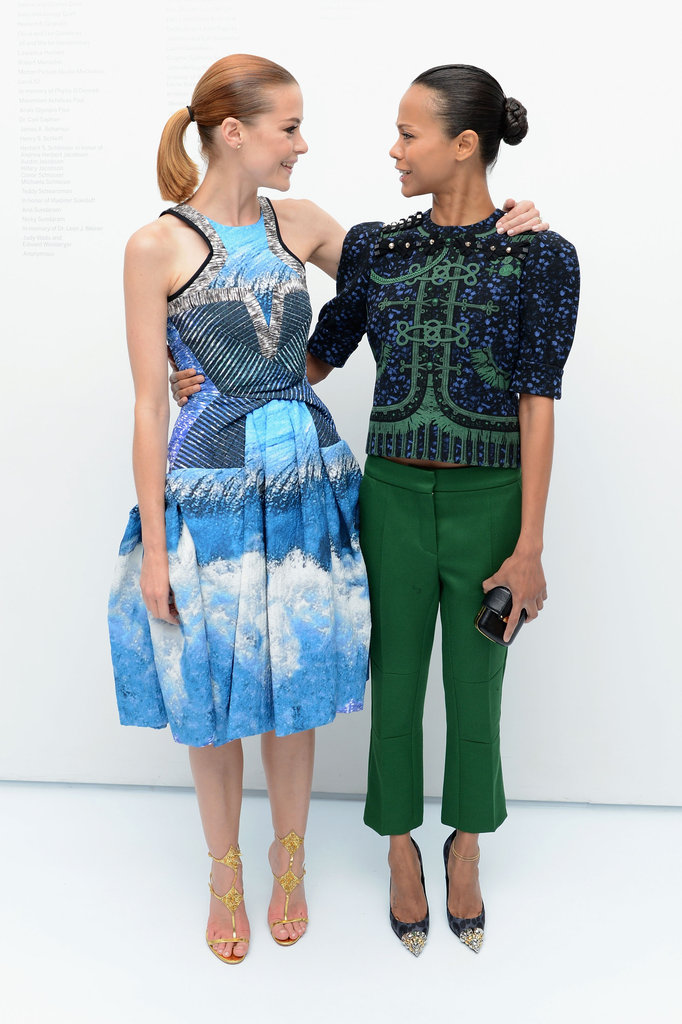 Jaime King and Zoe Saldana got together at the Persol Magnificent Obsessions event in NYC.