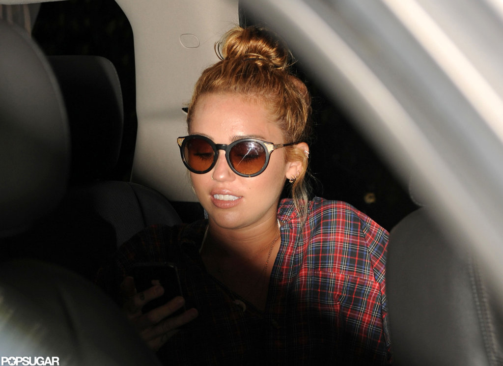 Miley Cyrus checked out of her Miami hotel.