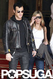 Jennifer Aniston and Justin Theroux together in Paris.
