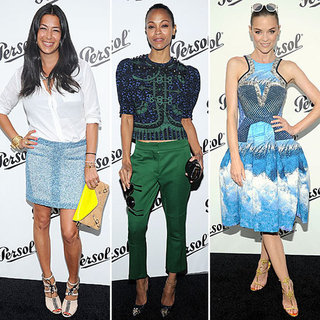 Zoe Saldana, Jaime King at Persol NYC