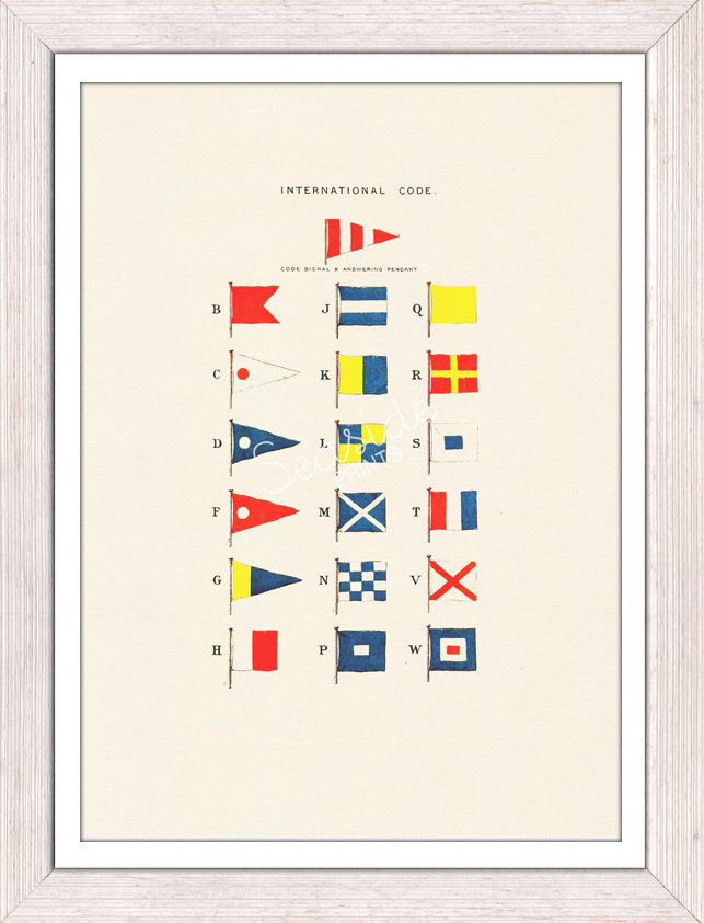 Nautical Code Flags Print ($12)