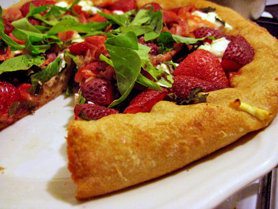 Strawberry Pizza With Basil and Goat Cheese