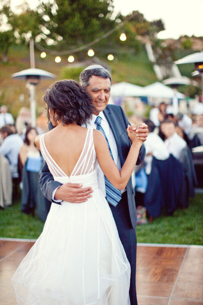 Dad and daughter danced together at this wedding. Photo by Sarah Yates via Style Me Pretty