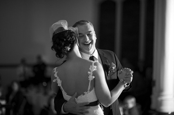 This father/daughter pairing enjoyed themselves during their dance. Photo by Justin & Mary via Style Me Pretty