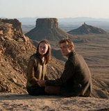 Saoirse Ronan as Melanie/Wanderer and Jake Abel as Ian O'Shea in The Host.  Photo courtesy of Open Road Films