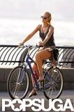 Erin Heatherton rode her bike in NYC.