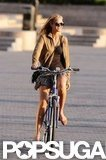Erin Heatherton enjoyed an afternoon of biking in NYC.