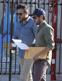 Zac Efron looked at a script in LA.