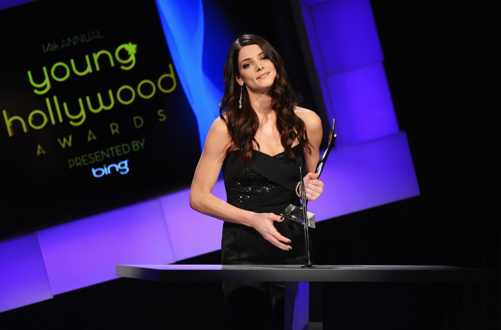 Ashley Greene accepted the Super Star of Tomorrow award.
