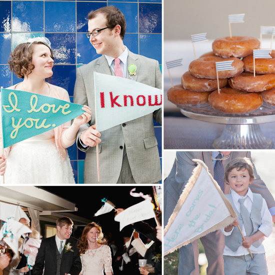 Très is giving you tips on how to incorporate flags into your wedding decor.