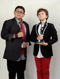 Rico Rodriguez and Nolan Gould proudly show off their Scene Stealer awards.