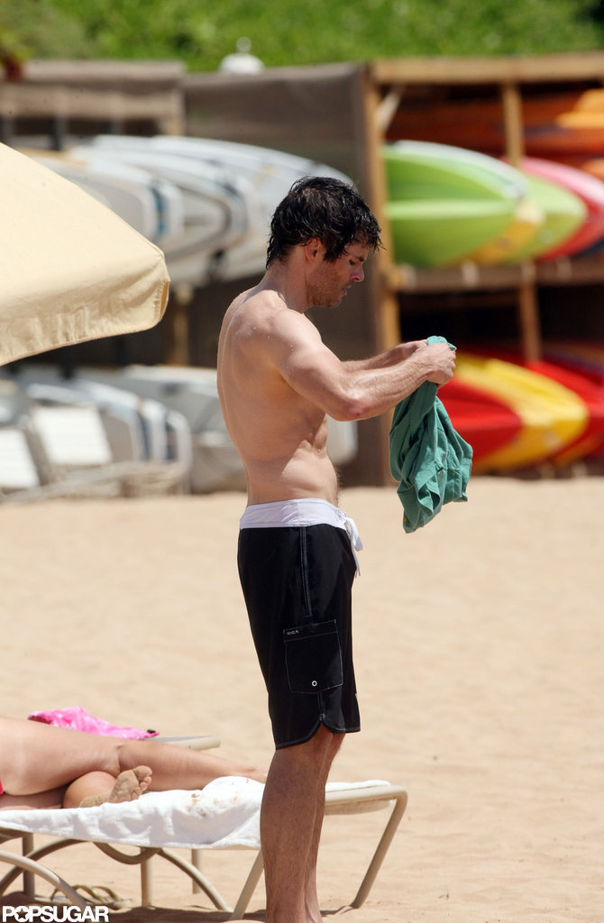 James Marsden relaxed on the beach in Hawaii.